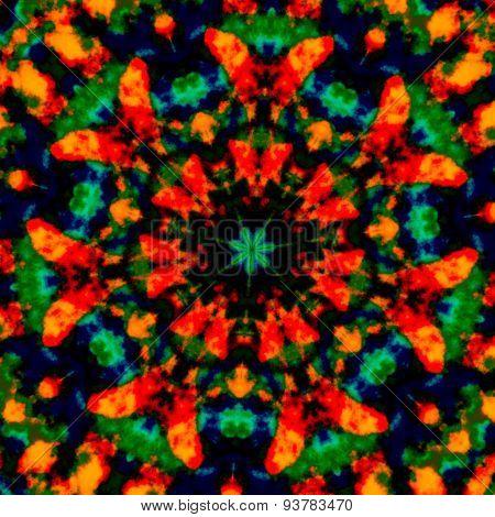 Colorful kaleidoscopic art illustration. Image composition design. Creative poster idea. Background.