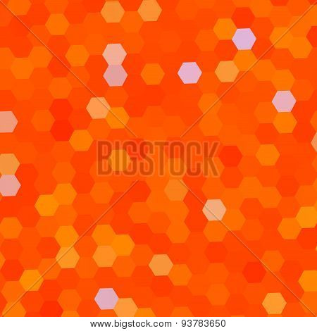 Abstract background with orange color pattern. Business card design. Square shaped illustration.