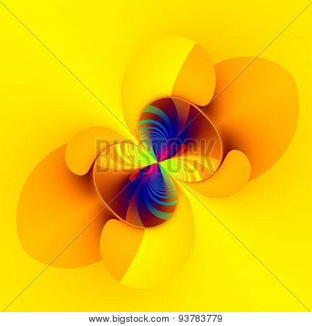 Weird abstract digital imagery. Flat style. Modern design concept. Computer art deco. Isolated.