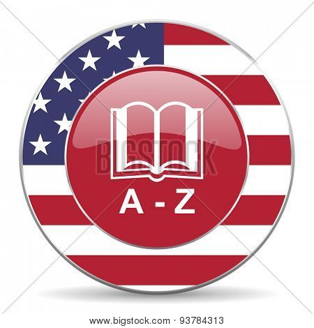 dictionary american icon original modern design for web and mobile app on white background