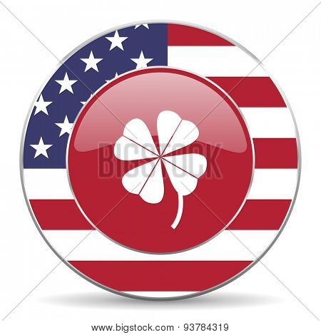 four-leaf clover american icon original modern design for web and mobile app on white background