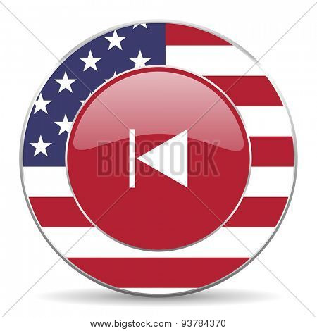 prev american icon original modern design for web and mobile app on white background