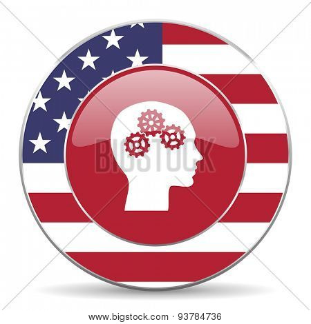 head american icon original modern design for web and mobile app on white background