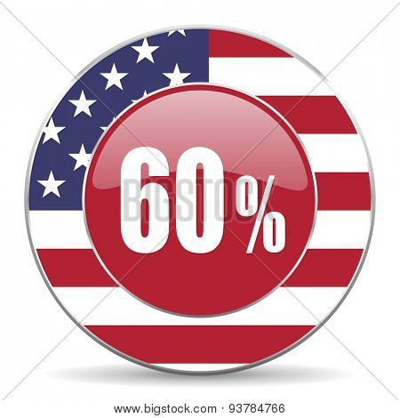 60 percent original american design modern icon for web and mobile app on white background