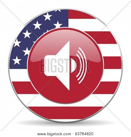 volume american icon original modern design for web and mobile app on white background