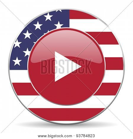 play american icon original modern design for web and mobile app on white background