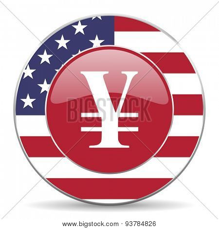 yen american icon original modern design for web and mobile app on white background