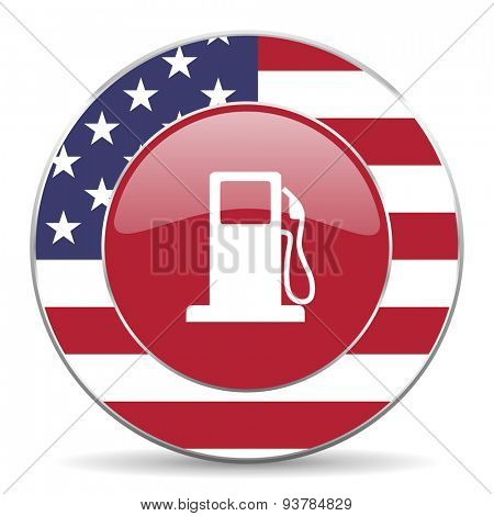 petrol american icon original modern design for web and mobile app on white background