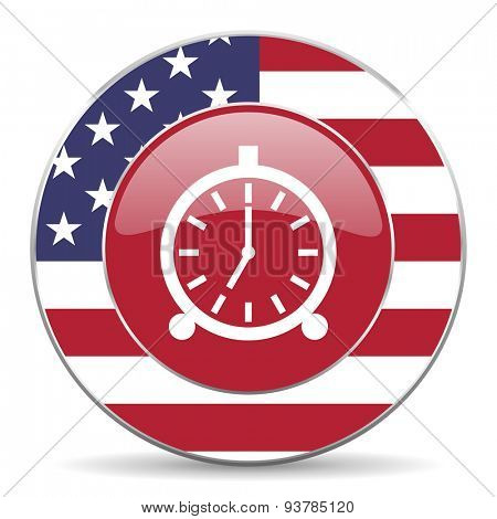 alarm american icon original modern design for web and mobile app on white background