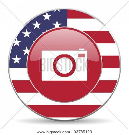 camera american icon original modern design for web and mobile app on white background