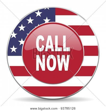 call now american icon original modern design for web and mobile app on white background