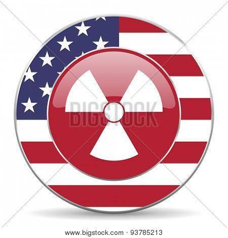 radiation american icon original modern design for web and mobile app on white background