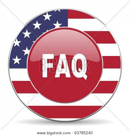 faq american icon original modern design for web and mobile app on white background