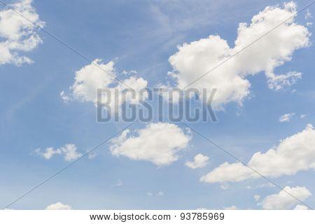 Blue Sky Background .