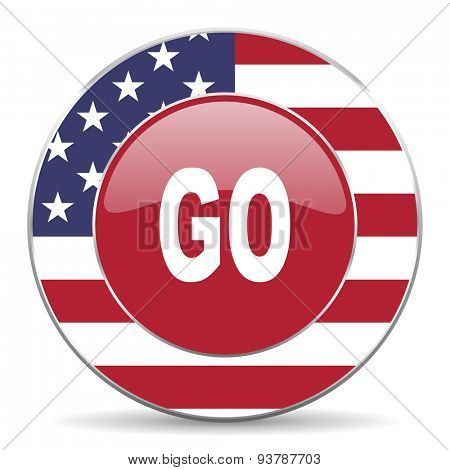 go american icon original modern design for web and mobile app on white background