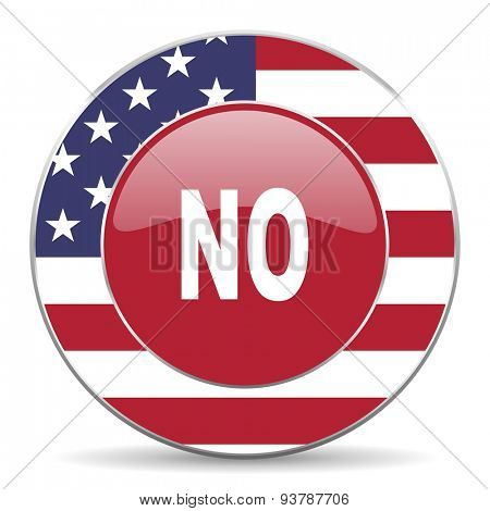 no american icon original modern design for web and mobile app on white background