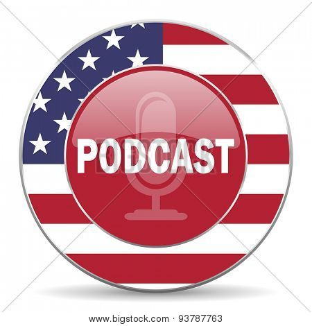 podcast american icon original modern design for web and mobile app on white background