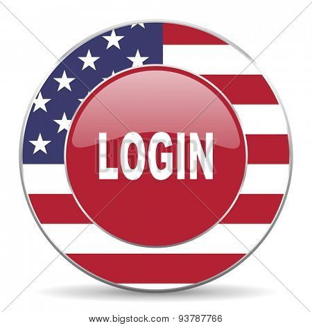 login american icon original modern design for web and mobile app on white background