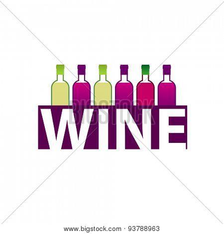 Wine market . Template design of logo.