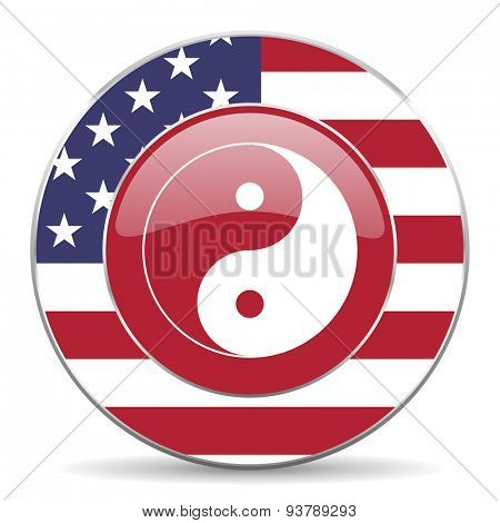 ying yang american icon original modern design for web and mobile app on white background