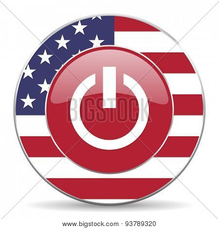 power american icon original modern design for web and mobile app on white background