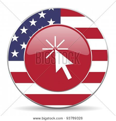click here american icon original modern design for web and mobile app on white background