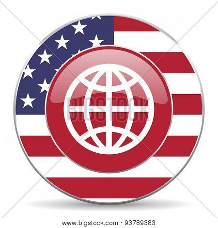 earth american icon original modern design for web and mobile app on white background