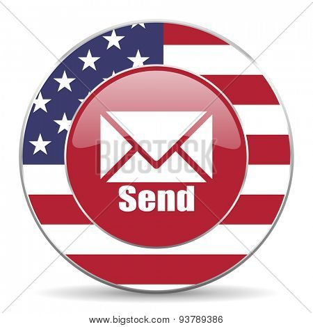 send american icon original modern design for web and mobile app on white background