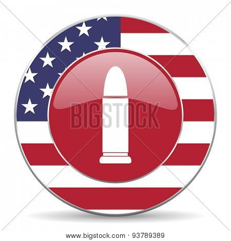 ammunition american icon original modern design for web and mobile app on white background