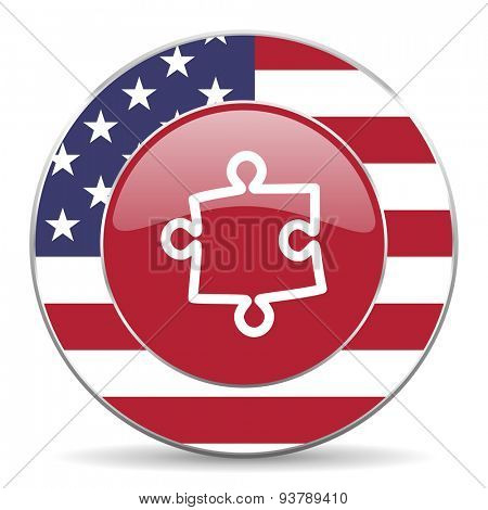 puzzle american icon original modern design for web and mobile app on white background