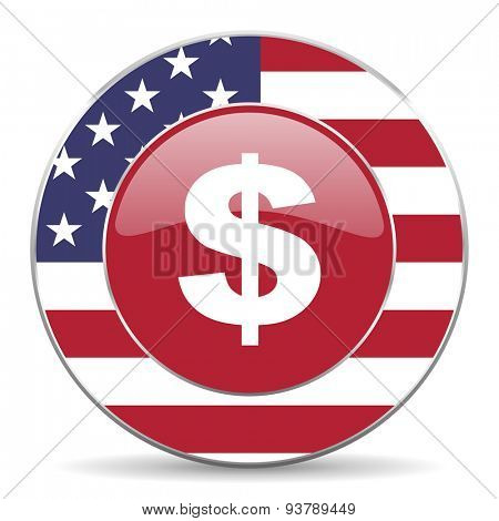 dollar american icon original modern design for web and mobile app on white background