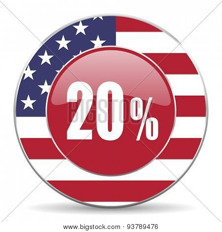 20 percent original american design modern icon for web and mobile app on white background