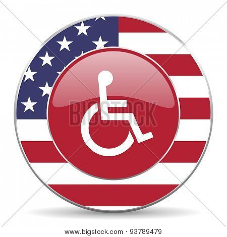 wheelchair american icon original modern design for web and mobile app on white background