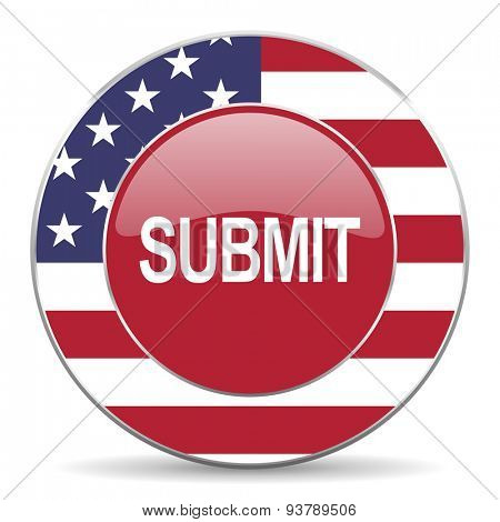 submit american icon original modern design for web and mobile app on white background