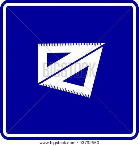 set squares sign