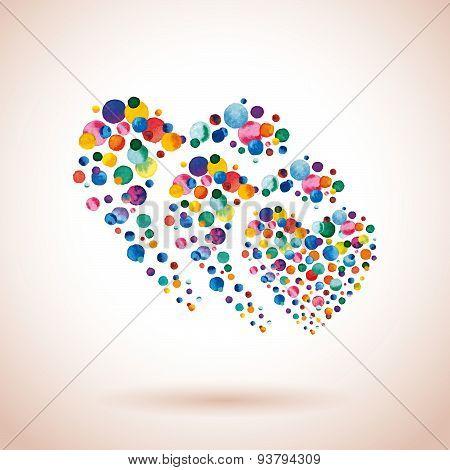 Confetti Triple Heart