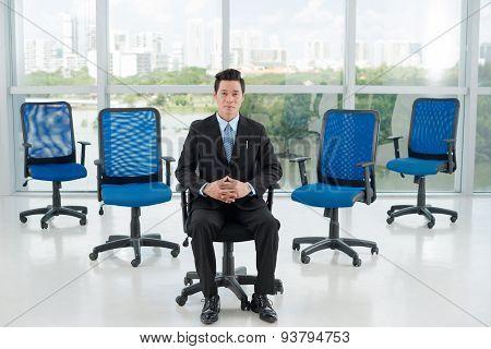 Confident Vietnamese CEO