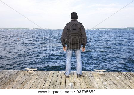Man At End Of The Dock