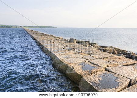 End Of Rockland Bay Breakwater
