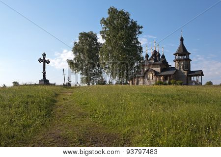 Verkhoturye. Simeonov stone. The Church of All Saints Resplendent in the Siberian Land.