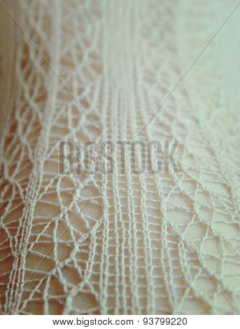 Lace on the body in gentle vintage colors, background