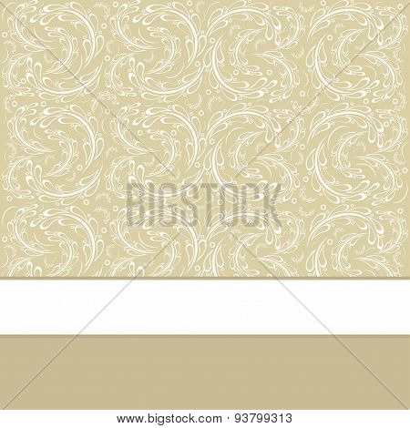 Greeting Card Or Invitation With Vintage Background.