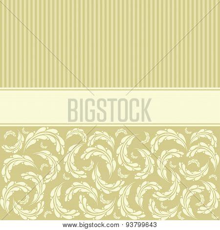 Flower Greeting Card. Wedding Invitation