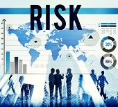 image of hazardous  - Risk Change Protect Secure Danger Hazard Concept - JPG