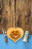 pic of pretzels  - Oktoberfest festival background with beer mug - JPG
