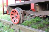 stock photo of trolley  - Part of old railway pump trolley concept of technology - JPG