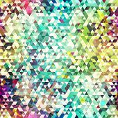 stock photo of psychedelic  - psychedelic triangle seamless pattern  - JPG