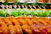 image of buffet catering  - Closeup Japanese Cuisine  - JPG