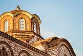 foto of pews  - Christian church in small city in Halkidiki - JPG