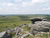 stock photo of minion  - the Cheesewring stones on Bodmin moor near the minnions - JPG